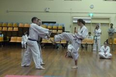 Black Belt Grading Front kick break