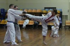 Black Belt Grading Side kick break RH