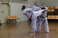 Black Belt Grading Turning kick break RH