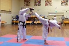 Black Belt Grading  Reverse Turning kick break RH